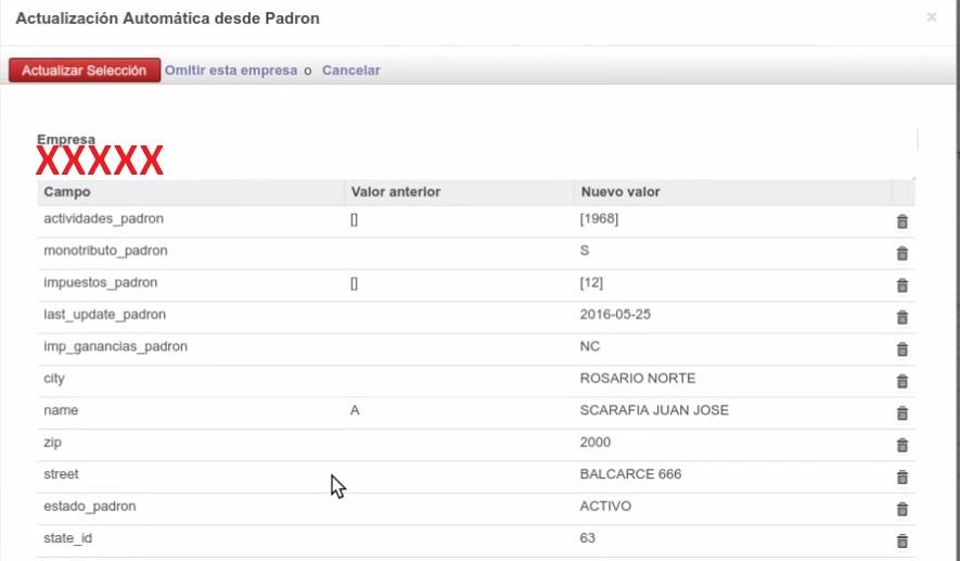 revisar los datos del padrón AFIP