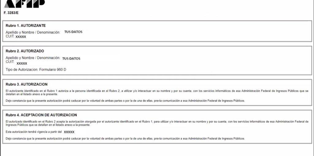 Nueba relacion habilitar el formulario 960