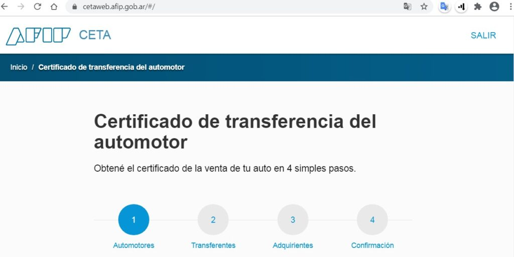 Certificado automorot