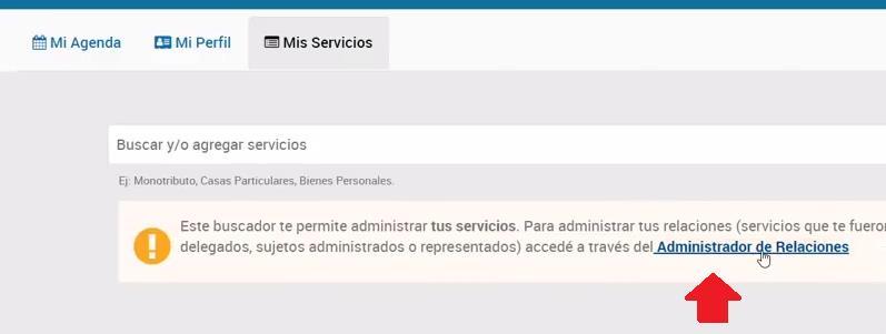 ADMINISTRADOR DE RELACIONES AUTH AFIP