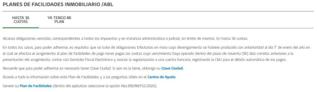 WWW . AGIP . GOV . AR plan de facilidades inmobiliario