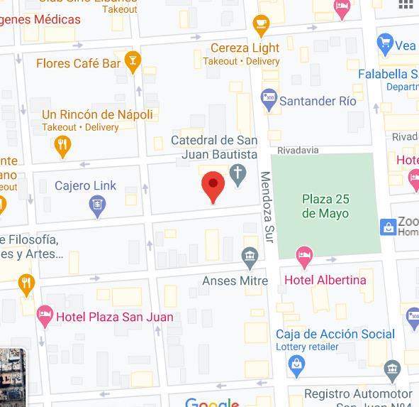 Mapa de sede de Anses San Juan Bicentenario