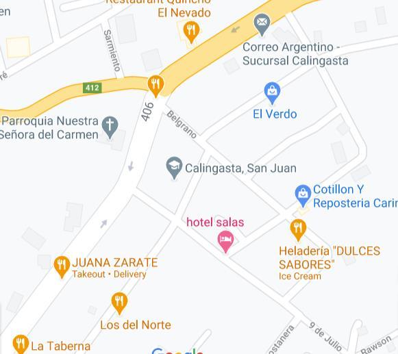 Mapa de sede de Anses San Juan Calingasta