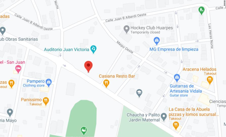 Mapa de sede de Anses San Juan Mitre Chimbas