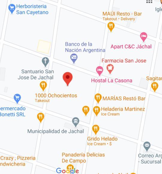 Mapa de sede de Anses San Juan Jáchal
