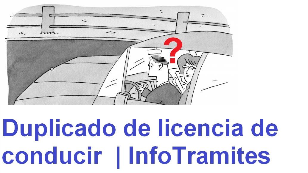 Duplicado de licencia de conducir