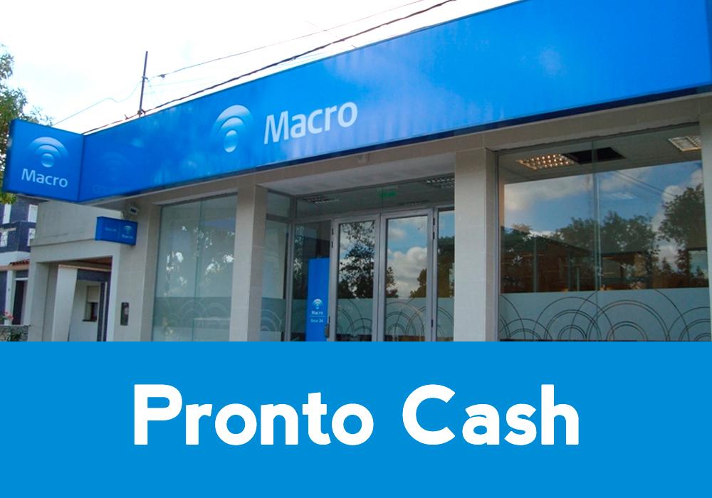 Banco Macro Préstamos pronto Cash