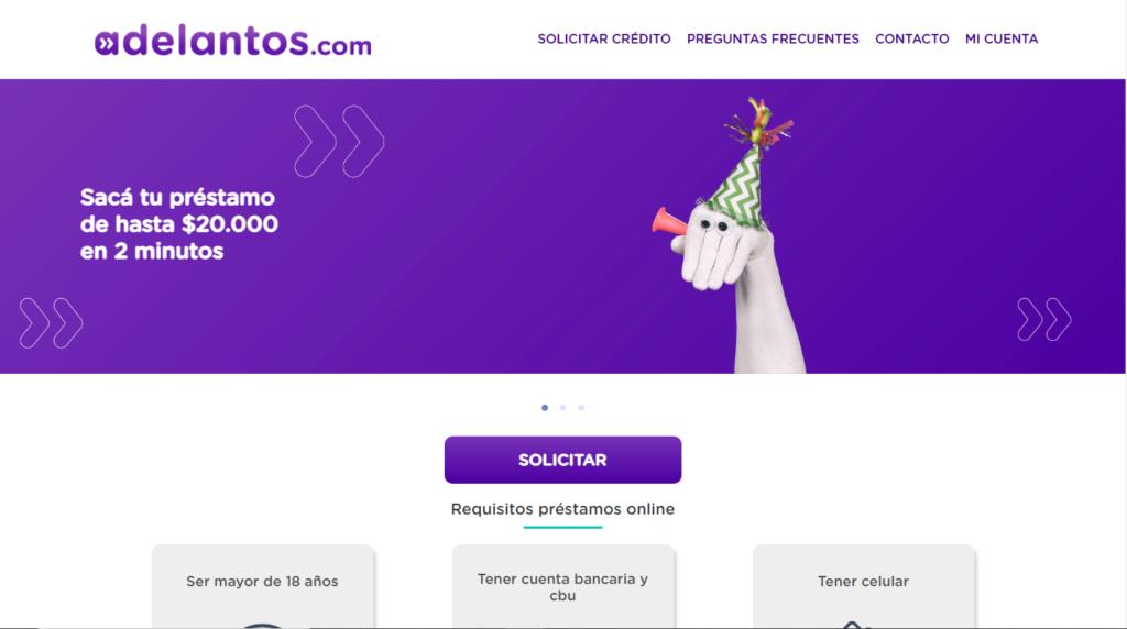 Préstamo online Adelantos.com