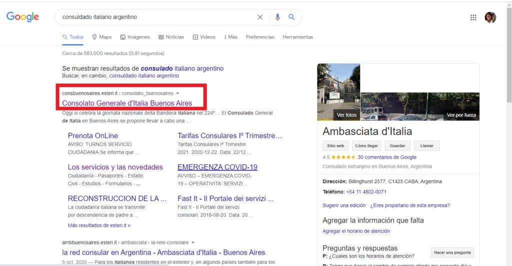 Localización de las embajadas italianas en Argentina