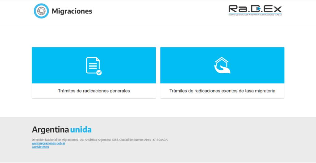Portal de migraciones : RADEX