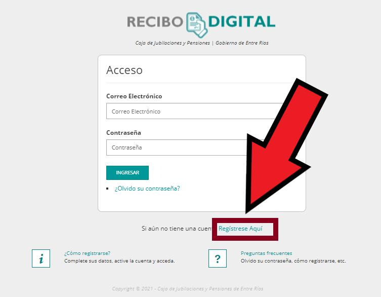 registro de recibo digital