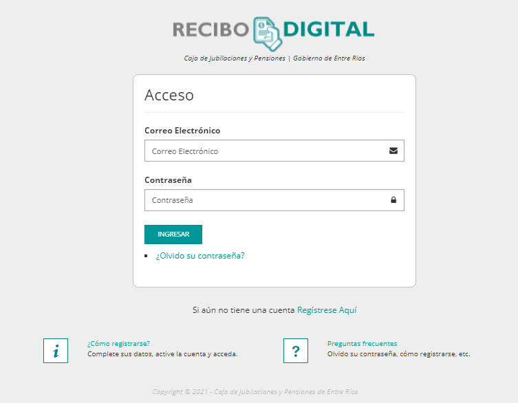 Recibo digital de Entre Ríos