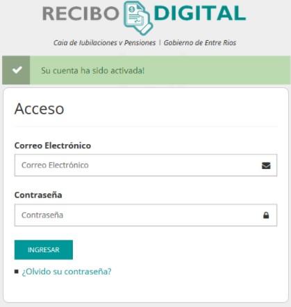 activación de cuenta de recibo digital