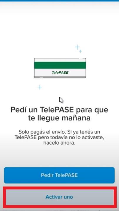 solicitud de TelePASE